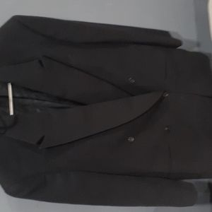 Georgio armani made in Italy  black suit jacket double breasted sz 30R